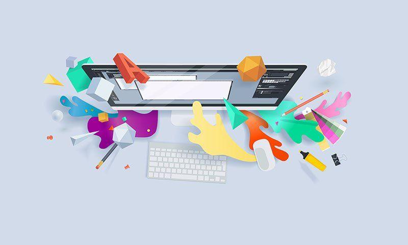 Creative concept banner