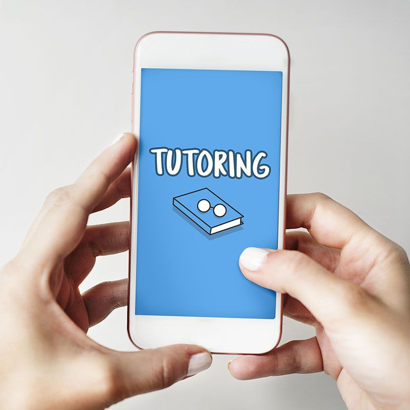 Tutoring Education Digital Device Concept