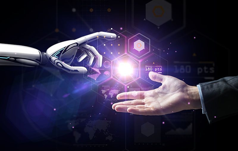 artificial intelligence, future technology and business concept