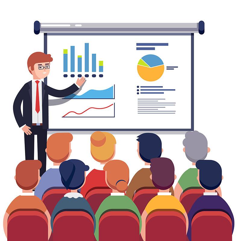 business presentation villustration